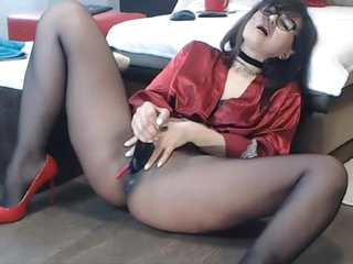 Pantyhose Milf, Squirting in Pantyhose, Sexy nylon feet