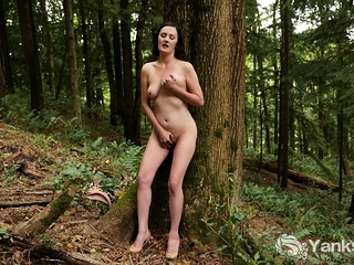 Rita Rollins in her most natural state is a naked forest