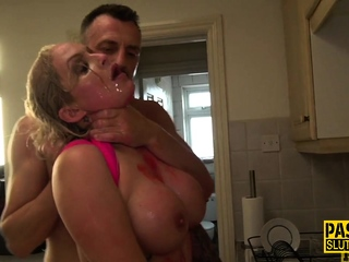 Submissive Louise Lee squirts and gets anal