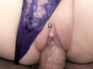 MILF orgasms with panties in pussy