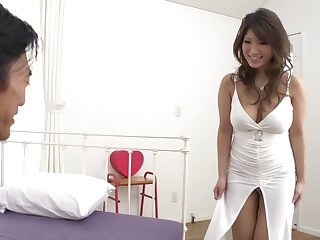 Frightening Japanese ecumenical Yume Mizuki everywhere Stranger JAV obsessed Shaved pellicle