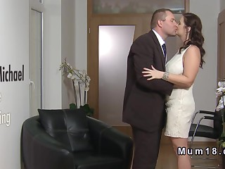 Tall jugs heavy bride banging