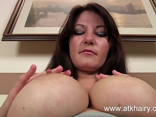 Soft MILF Vanessa fucks a plaything