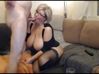 German auric BBW MILF close to stockings coupled with seneschal sucks coupled with fucks