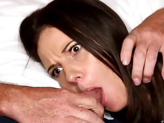 son push cock into his moms mouth