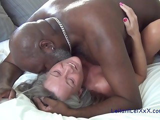 Good looking milf and a handsome, black man are fucking just for the fun of it