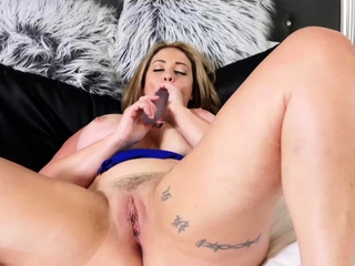 PORNSTARPLATINUM Busty Mature Eva Notty Talks Dirty Solo