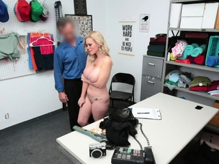 Busty woman fucks the pervy LP Officer