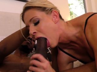 Stockinged milf blacked