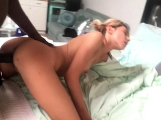 Real interracial loving stepmom doggystyle fucking
