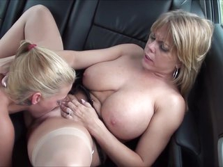 Huge Natural Breasted Milf Go Down On Sexy Young Blonde In The Back