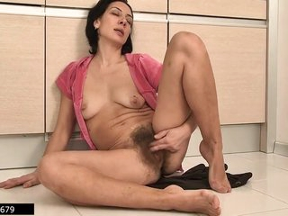 Latvian Housewife And Hairy Mommy Eva Masturbates 3, 3 Scenes
