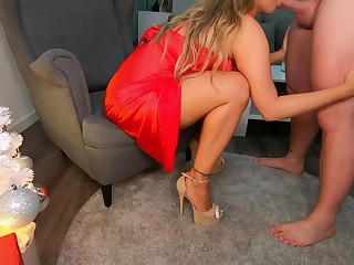 Big Ass Step Mom Teases Me At The Family Crhistmas Party Gets Fucked & Gives Me The Best Footjob