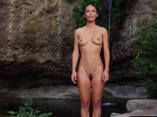 MILF yoga trainer prefers naked workout