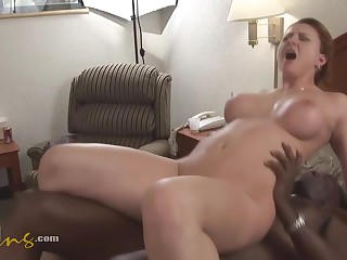 Jean Is Getting Fucked And Creampied While Cheating On Her Husband With A Handsome, Black Man