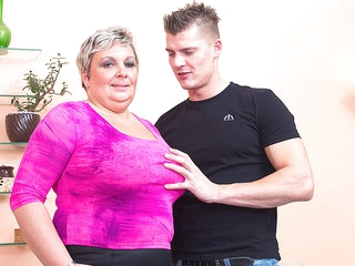 Big Breasted Mature Bbw Fucking And Sucking Her Younger Lover - MatureNL