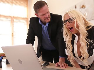 Office Porn With Busty Secretary Kyra Hot And Her Strict Boss
