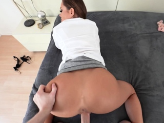 Nasty stepmom came and swallowed dick