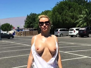 Picked up euro blonde outdoor fucked after public bj