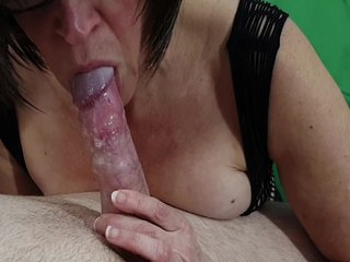 Horny Mom With Great Teeth Gives Me A Hot And Painful Blowjob