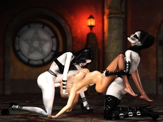 Hot 3d dickgirls fuck hard a sexy slave in the ritual room
