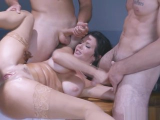 Two marketable males together with Veronica Avluv