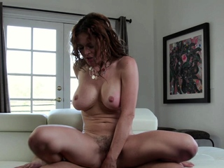 Krissy Gets Her Big Tits Blasted With Coolness