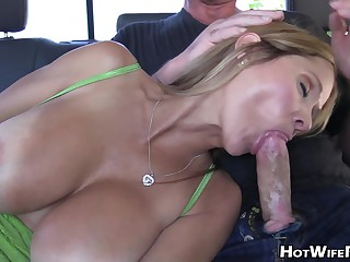 Milf With Big Tits Is Sucking His Cock And Fucking