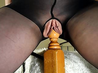 Crude MILF Rides Their way Bedpost - Parasynthetic Squirting Orgasms
