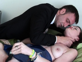 Crushed plugged old bag toying will not hear of clit