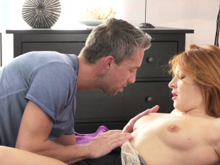 Redhead Milf bangs close by selection positions