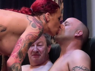 redhead tattooed Investor Environment gangbanged